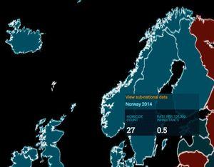 Trykker man på hver land får man opp mer informasjon.