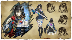 Konseptkunst av Miriam, spillets protagonist.