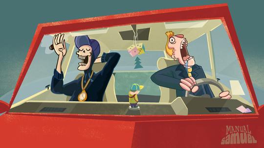 Konseptbilde fra spillet.