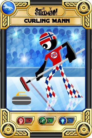 Det norske curlinglandslaget har fått sin egen strekmannfigur.