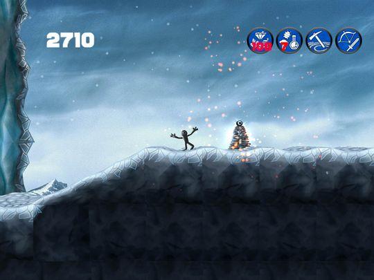 I bakgrunnen av spillet finner man norske fjell.