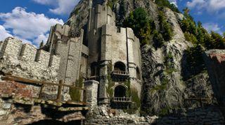 Slottet til Geralt og vennene.