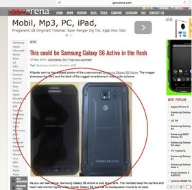 Det som etter sigende skal være Galaxy S6 Active.