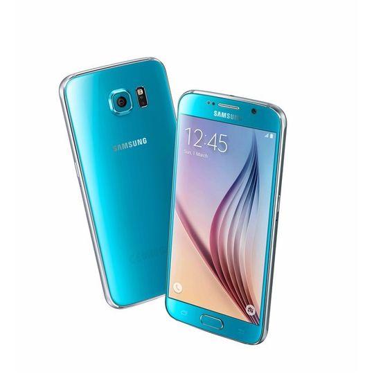 En Samsung Galaxy S6 «Blue Topaz».