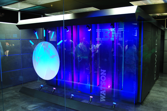 En tideligere utgave av maskinene som tidligere kjørte IBMs Watson-løsning.