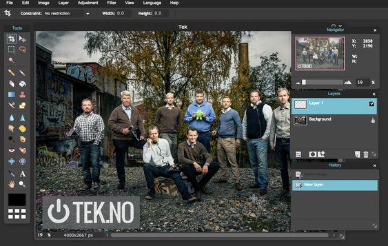 Pixlr Editor er imponerende god på bildebehandling, tatt i betraktning at dette er en web-app.