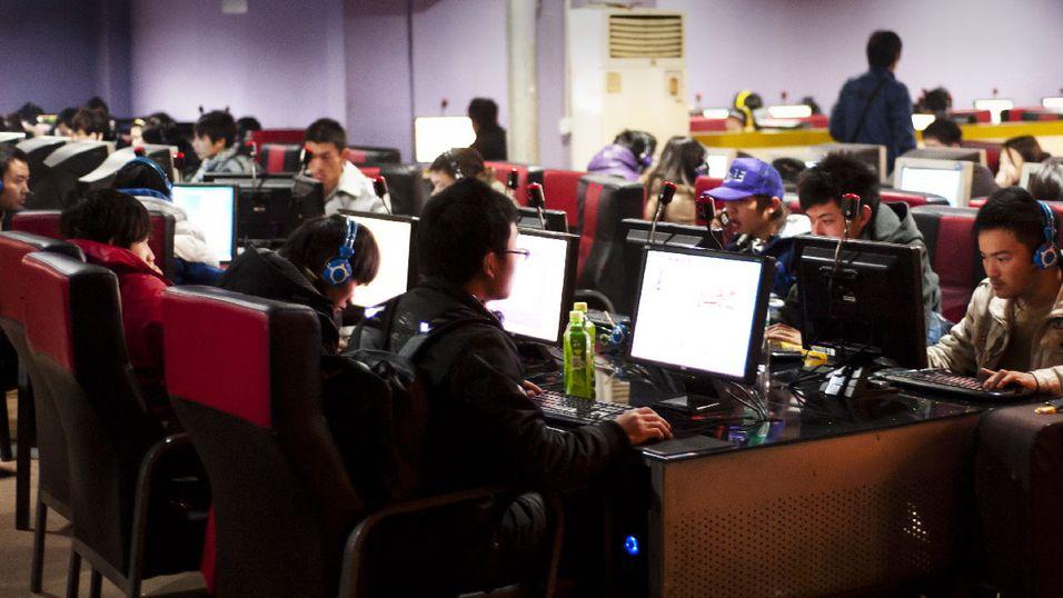 Cyber-kafeer er kjempepopulære i Kina.