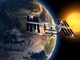 Romstasjonen ISS er ikke alene om å gå i bane rundt Jorden.