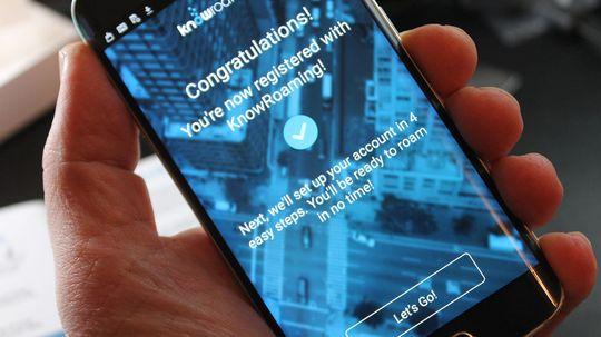 En app gir deg god oversikt og lar deg administrere tjenestenmens du er på reise.