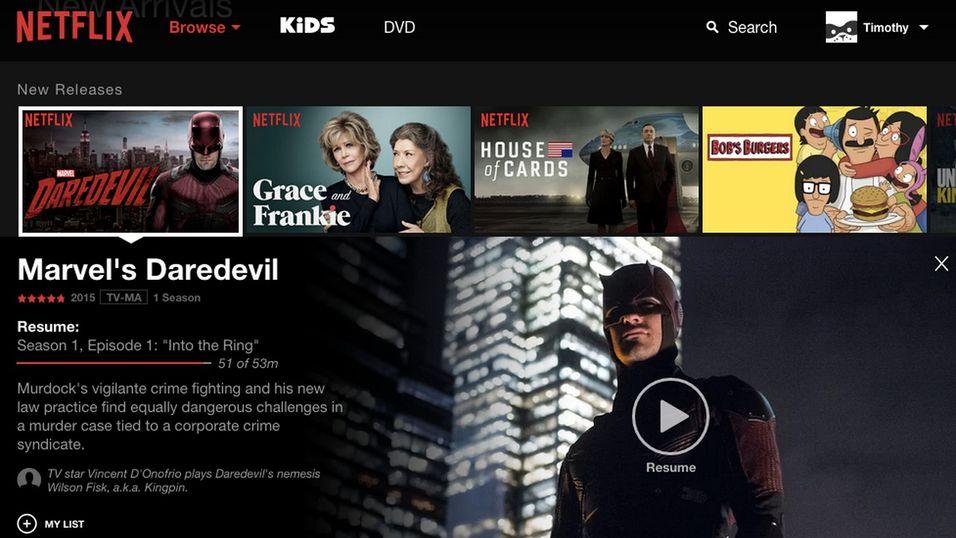 Nye Netflix for nettleser.