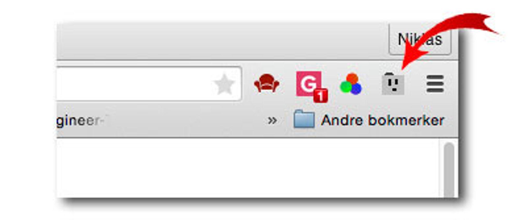 Sånn ser ikonet ut.