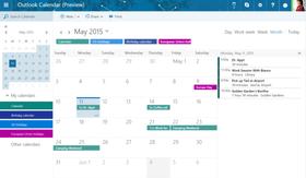 Nye Outlook.com får også bedre kalenderfunksjon.