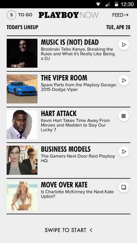 I Playboy Now får du en kjapp oversikt over dagens viktigste nyheter.