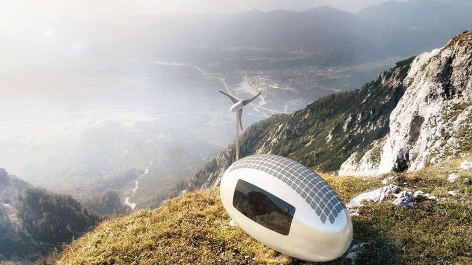 Dette lille fremtidshuset er selvforsynt og kan flyttes overalt