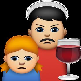 Det er vanskelig å misforstå hva denne emojien betyr. Alkoholmisbruk er også en del av utvalget.