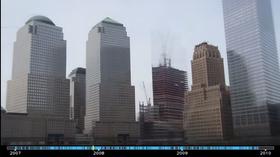 Videoene viser også byggingen av store bygninger.