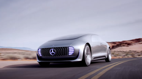 Daimler og Qualcomms samarbeid kan også få betydning for selvkjørende biler. Dette er den selvkjørende Mercedes-konseptbilen F 015.
