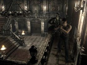 Skjermbilete frå Resident Evil Zero på Gamecube.