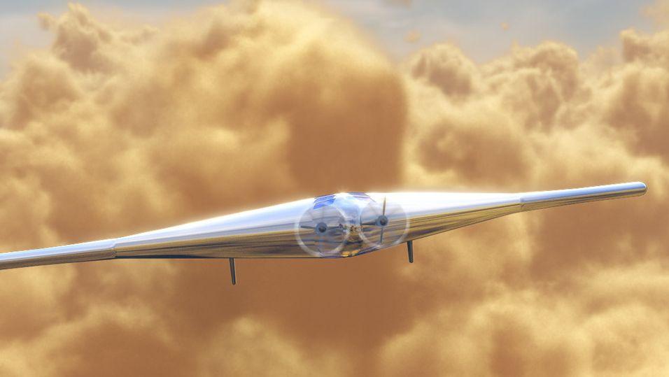Slik skal flyet ta seg ut i skyene høyt over Venus.