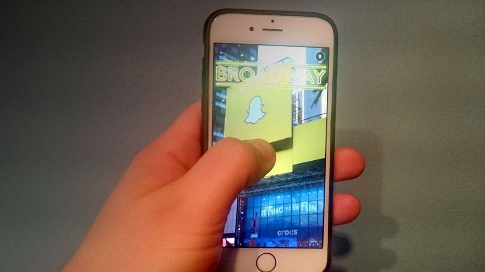 Snapchat vil droppe «fingertrykket»