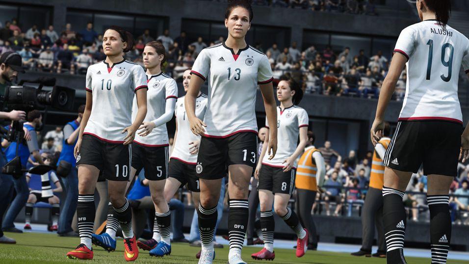 Tyskland vandrer ut på banen i FIFA 16.