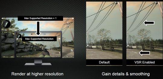 VSR rendrer spillet i en høyere oppløsning for å jevne ut og forbedre detaljer.