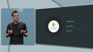 Android Pay skal fokusere på brukervennlighet og sikkerhet. Bildet er fra avdukingen på årets I/O-konferanse.