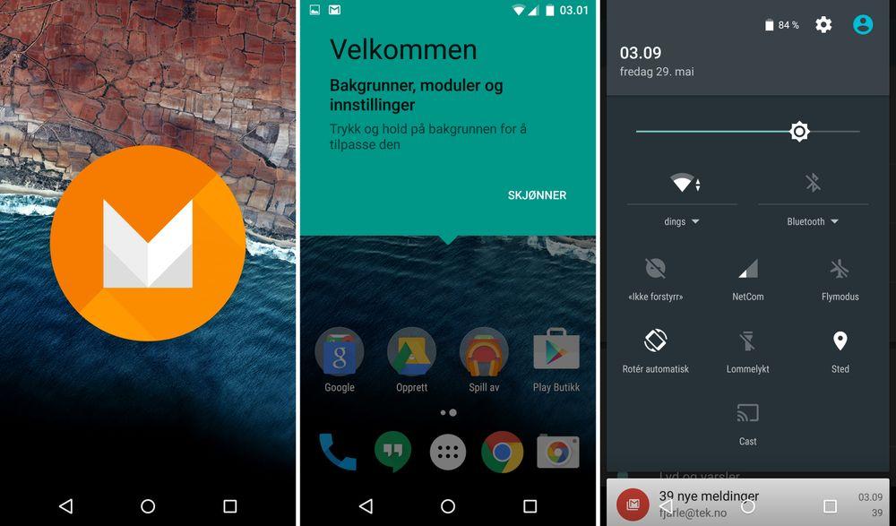 Android M fortsetter trenden og informerer godt i alle bauger og kanter. Vi liker de mange korte forklaringsvinduene vi får opp overalt. Spesielt for noen av de mer infløkte funksjonene, så som prioriterte kontakter.