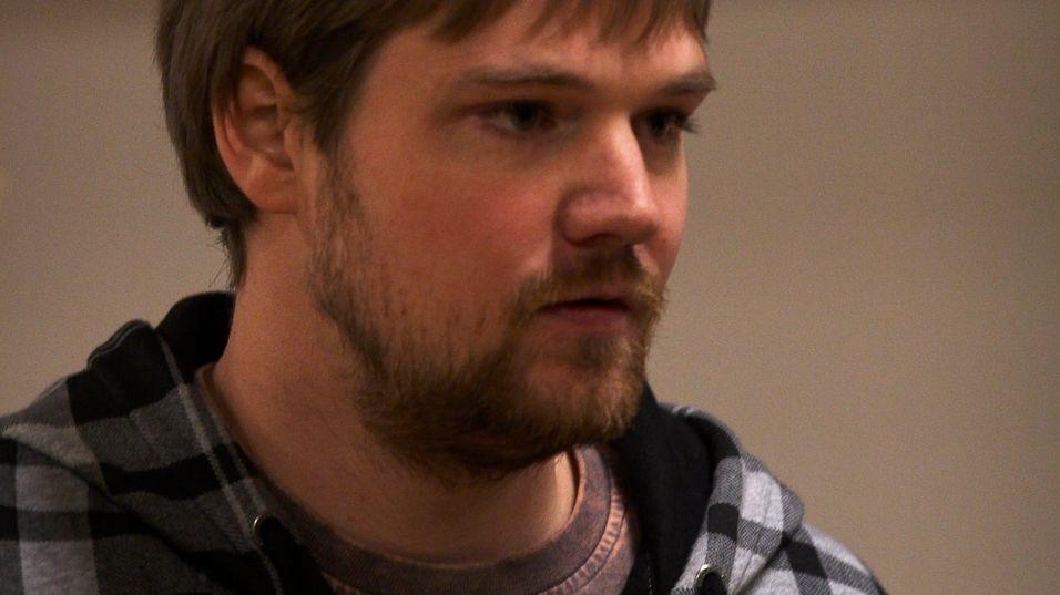 Fredrik Neij under The Pirate Bay-rettsaken. Han er nå en fri mann.