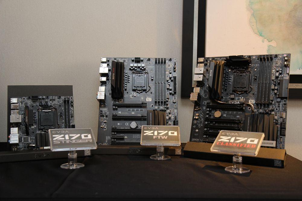 Tre nye hovedkortmodeller; Z170 Classified, FTW og Stinger. Flaggskipet er Classified. Kortene støtter Intels 6.generasjon Skylake-prosessorer som kommer i tredje kvartal.