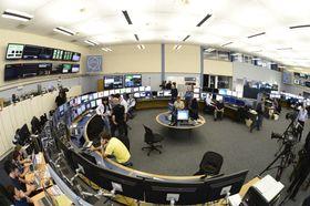 Kontrollrommet til LHC-maskinen.