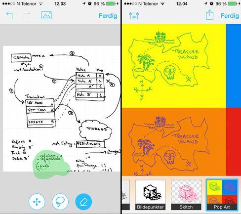 Carbo lar deg scanne inn håndskrevne notater med mobilen.