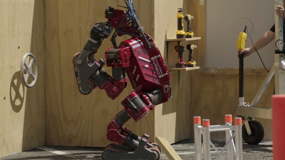 En av robotene i finalen.