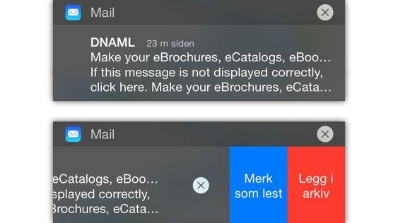 Uff, spam... Rett i søpla med deg!