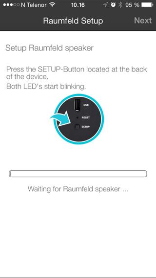 Følge instruksjonene så er det enkelt å koble høyttalerne til nettverket ditt.
