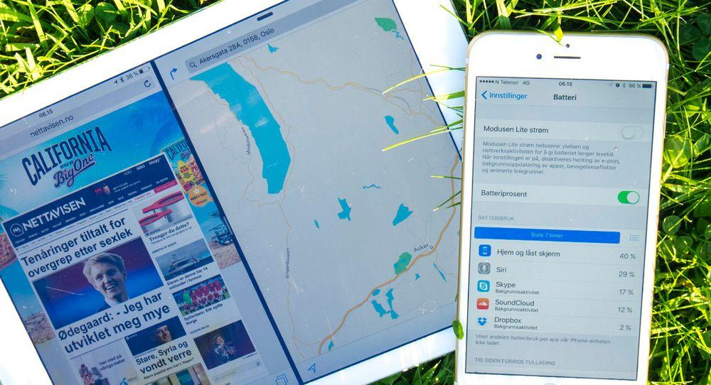 Mulighet til å kjøre flere apper på samme iPad-skjerm, samt batterisparefunksjonene er blant nyhetene i iOS 9.