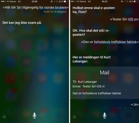 Akkurat som sitt opphav er Siri sparsom med informasjonen. Hvor treffsikker den er varierer voldsomt.