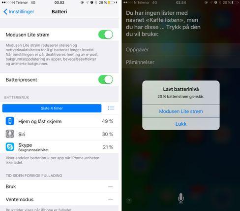 Den nye strømsparefunksjonaliteten i iOS 9 er som snytt ut av USB-kontakten på en Android-telefon.