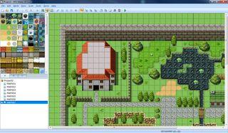 Karteditoren i RPG Maker VX Ace.