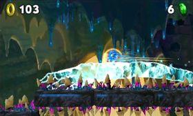 Sonic kan skli på hjemmelaget is.