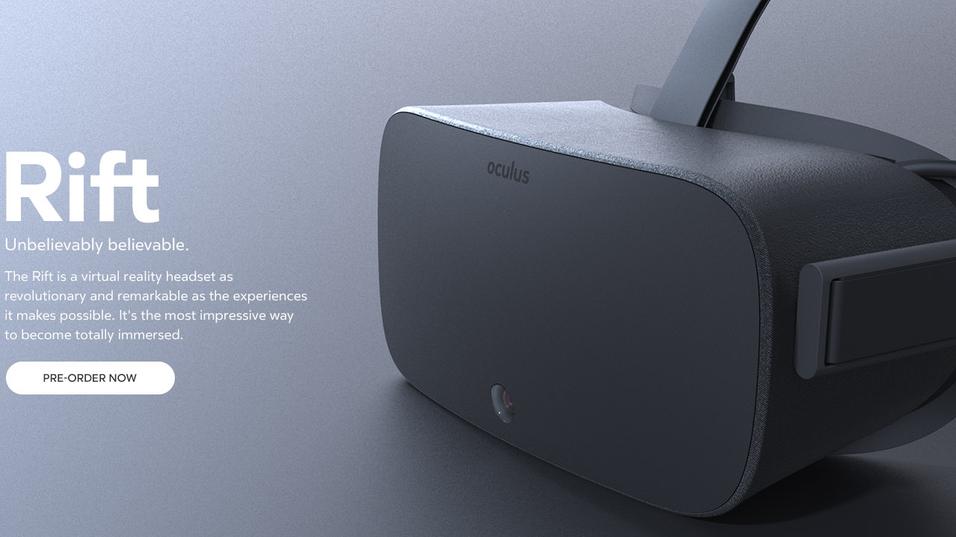 Slik så den «endelige» forbrukerutgaven av Oculus Rift tilsynelatende ut i 2014, men grunnleggeren hevder bildene kun er gamle konseptbilder.