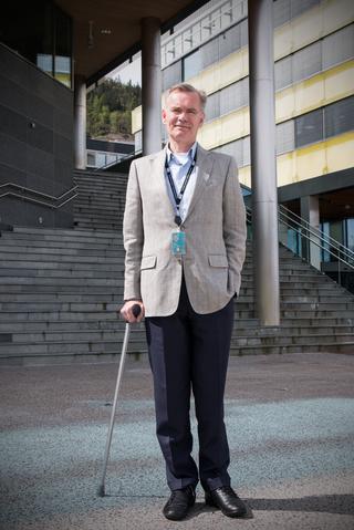 MANGE MØTER: Bjørn Kloster er ansvarlig for samhandlingsløsningene i Norges største finanskonsern, DNB. Selskapet har mange tusen ansatte og høy møtevirksomhet, både internt og ut mot kunder.