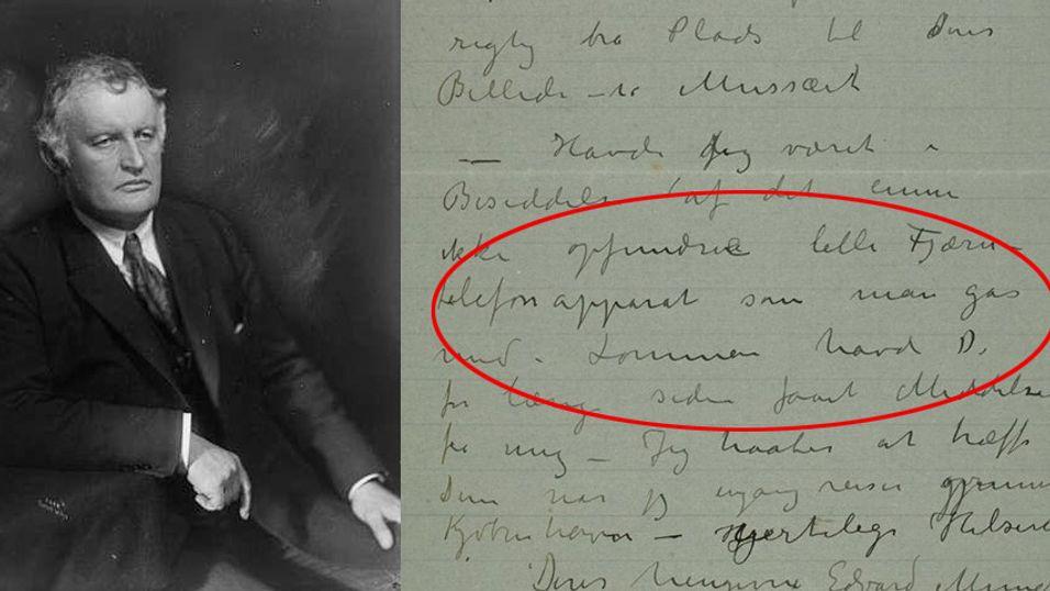 Edward Munch så for seg mobiltelefonen for 105 år siden