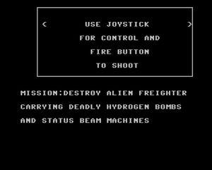 Spillets instruksjoner. Pass deg for status-strålene.