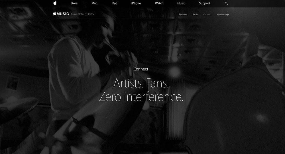 Slik presenterer Apple den nye musikktjenesten.