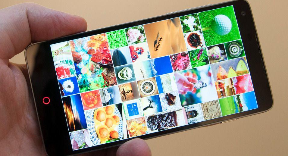 Bildet viser en eldre ZTE-telefon med lavere skjermoppløsning en den som nå er ryktet.