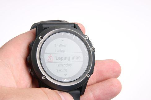 Løping er en av mange funksjoner som er lagt inn fra fabrikk.
