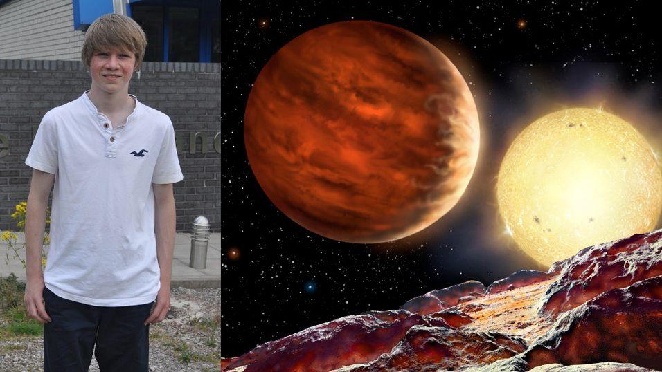 Tom oppdaget en ny planet da han var 15 år gammel