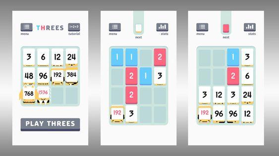 Teknofil-redaksjonen har samlet sett spilt godt over 2000 runder med mobilspillet Threes!