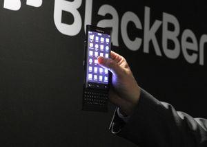 Dette er den nye tastaturtelefonen BlackBerry viste frem i Mars, som kanskje kommer med Android til høsten.